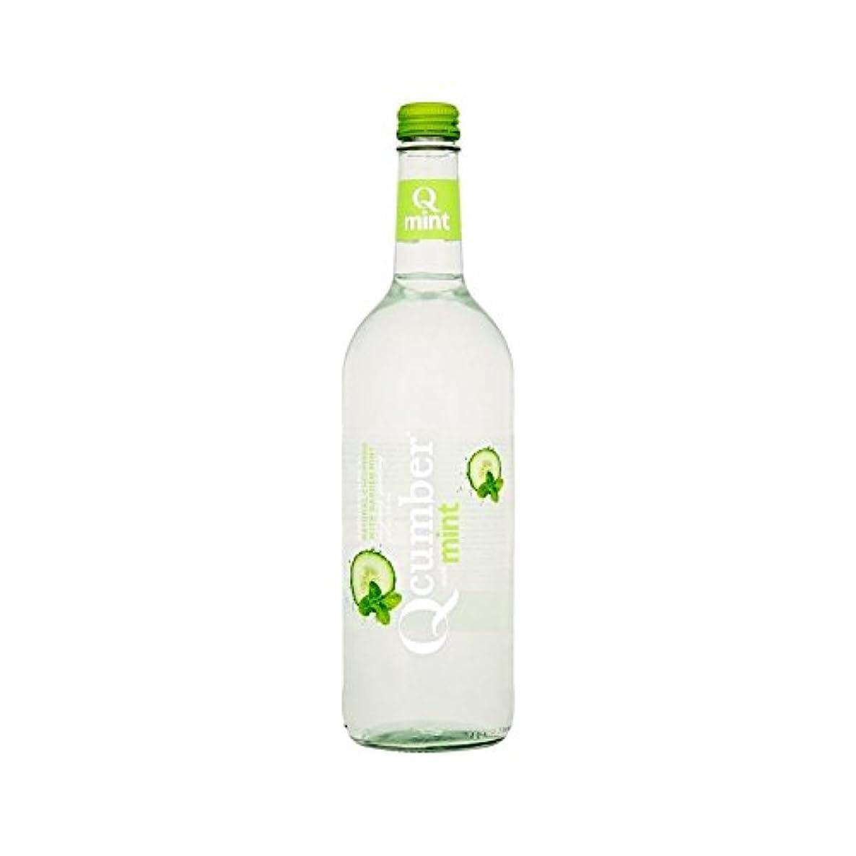 充実実験室観察するミントスパークリング水750ミリリットルで (Qcumber) (x 6) - Qcumber with Mint Sparkling Water 750ml (Pack of 6)