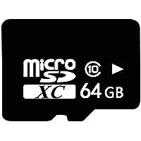 microSDHC 64GB カード Finnart MicroSD メモリカード 64GB TFカード 超高速転送 Class10 クラス10フラッシュメモリ SDアダプタ付き 携帯電話、タブレット、ドライブレコーダー、ゲーム機、カメラなどに適用 (64G)