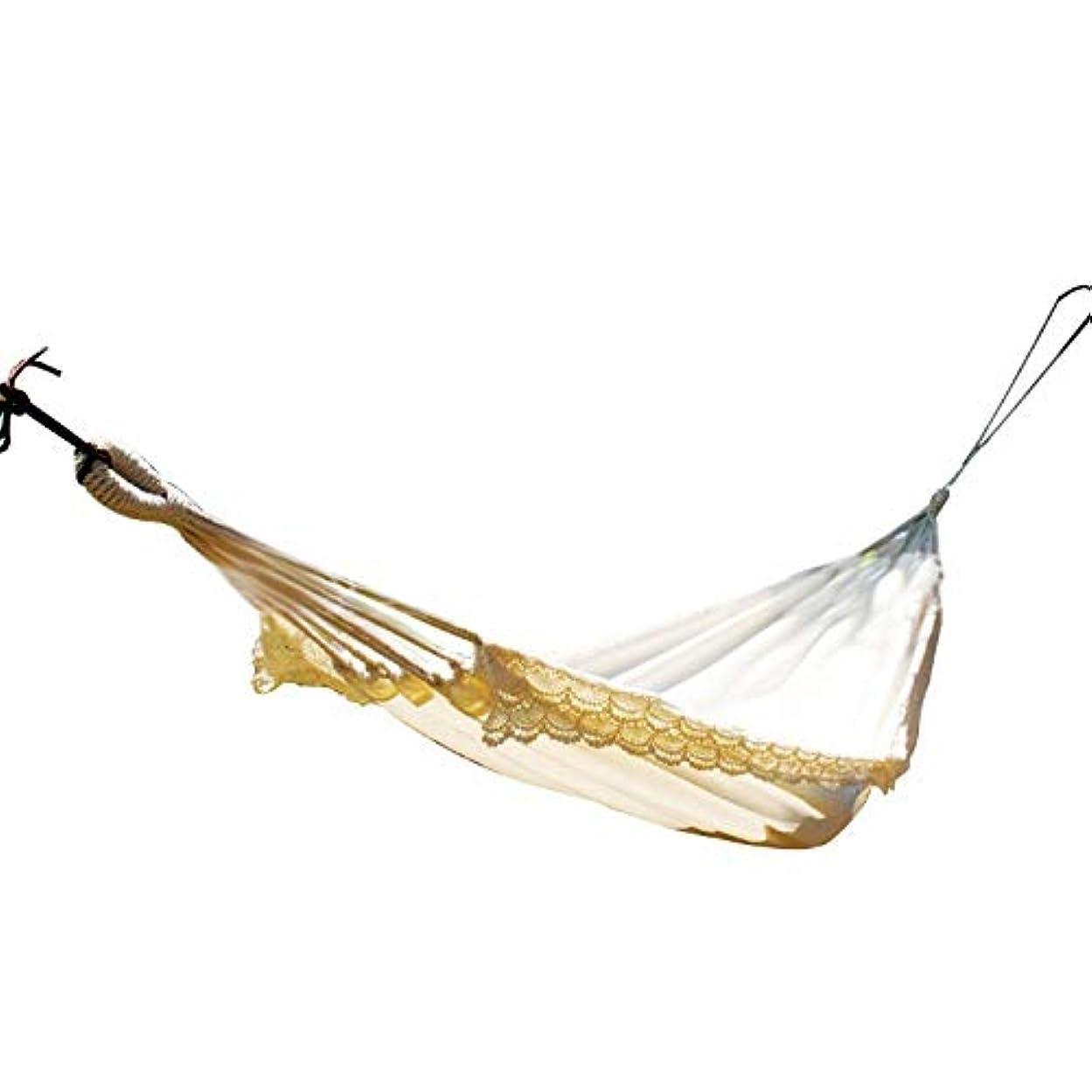 増強土マニアコットンシングルハンモック無料巾着ポータブルキャリーバッグ軽量ハンモックスイング人ツリースタンドキャンプロープ