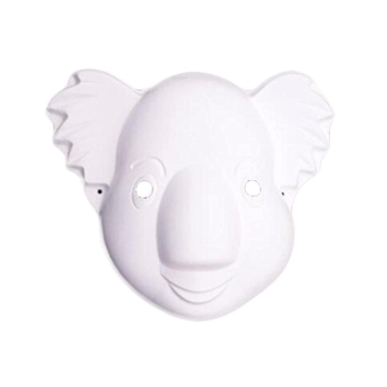 10個の白いマスクDIYコスチュームマスクコアラマスク絵画マスクブランクマスク