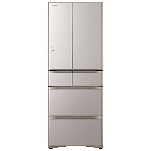 日立 555L 6ドア冷蔵庫(クリスタルシャンパン)HITACHI 真空チルド R-XG5600G-XN