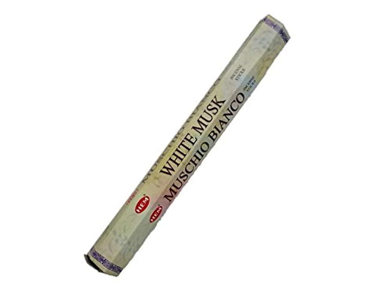 可能性ロッカーリズミカルなHEM(ヘム)お香:ホワイトムスク スティックお香/インセンス/1箱