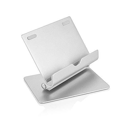 スマホスタンド アルミ デザイン 角度調整可能 充電可能 スマホ タブレット(シルバー)