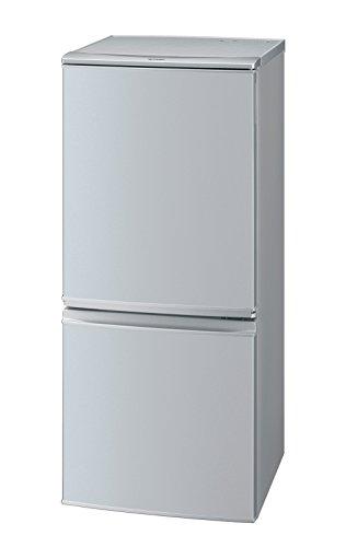 シャープ 冷蔵庫 小型 2ドア つけかえどっちもドア 137L シルバー SJ-D14C-S