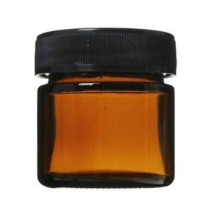 生活の木 茶色ガラス・クリーム容器 25ml