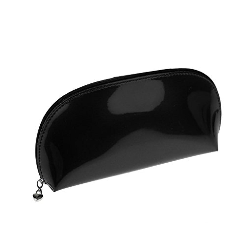 セラー悲観的書き出す全2色 化粧ポーチ メイクポーチ コスメティックバッグ 化粧品収納 メイクボックス 旅行 パーティ - ブラック