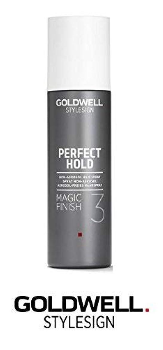 振るう銅蚊Goldwell Stylesignパーフェクトホールドマジックフィニッシュ3非エアゾールヘアースプレー - 6.3オンス(と洗練されたスチールピンテールコーム)