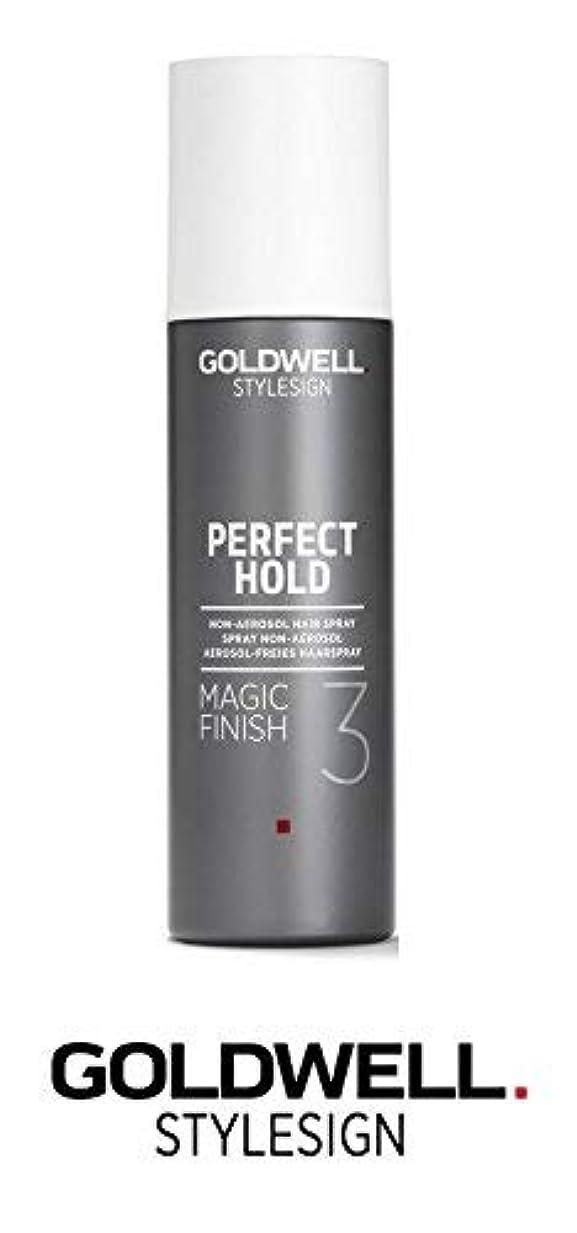 不道徳改修一時的Goldwell Stylesignパーフェクトホールドマジックフィニッシュ3非エアゾールヘアースプレー - 6.3オンス(と洗練されたスチールピンテールコーム)