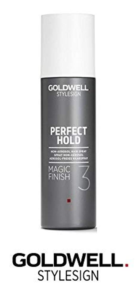 結果として専門用語理解Goldwell Stylesignパーフェクトホールドマジックフィニッシュ3非エアゾールヘアースプレー - 6.3オンス(と洗練されたスチールピンテールコーム)