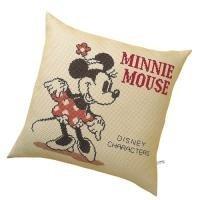 ディズニー 刺繍キット オリムパス クッション/ミニーマウス キャメル /5882 [刺しゅうキット/ししゅう/ク