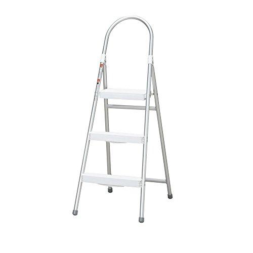 アイリスオーヤマ アルミステップ ホワイト 幅46×奥行68.5×高さ120cm ALS-3