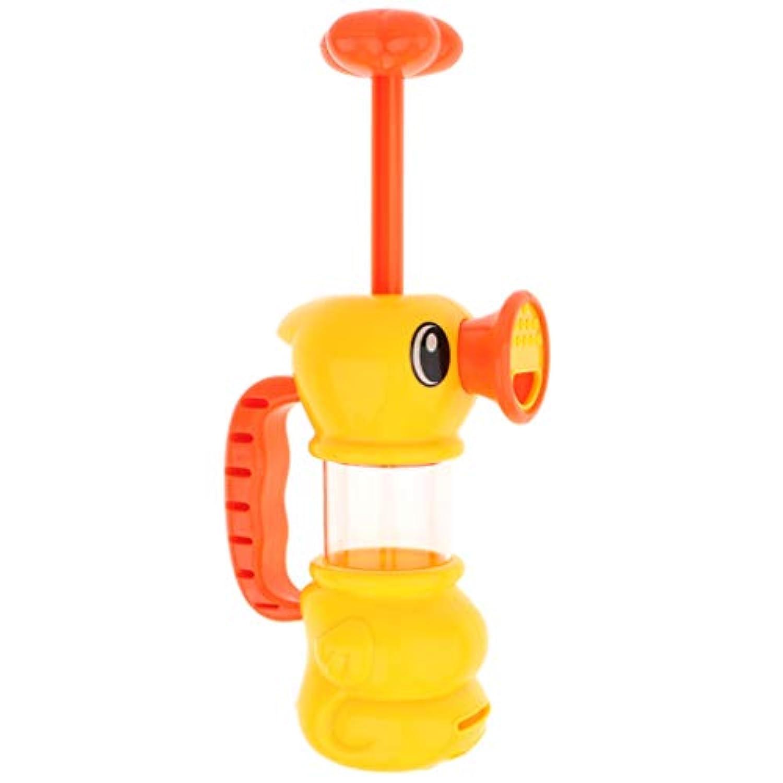 KESOTO プラスチック製 黄色のアヒル スカートウォーター スプレー ウォーターポンプ おもちゃ シャワー バスおもちゃ
