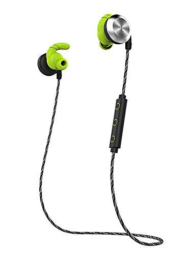 MicBridal(マイクブリダ)カナル型イヤホン ワイヤレスイヤホン 無線スポーツ用 耳かけ式 高音質 ブルートゥース通話 ノイズキャンセリング 防水 マイク内蔵 マグネット搭載