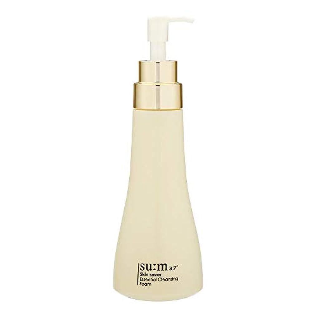 灰ベンチターゲット[スム37°] Sum37° スキンセイバー エッセンシャルクレンジングフォーム  Skin saver Essential Cleansing Foam (海外直送品) [並行輸入品]