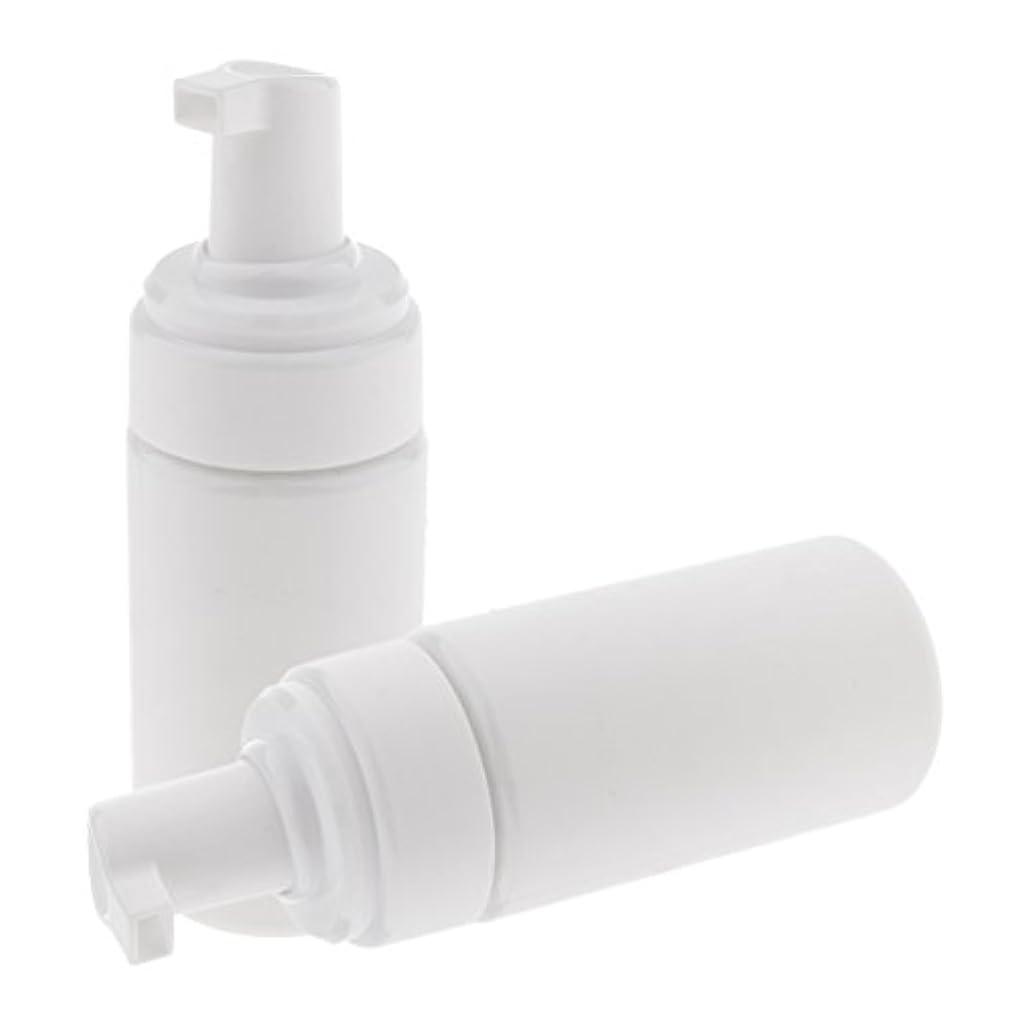 川活気づける暴動2x詰め替え式の泡ビンディスペンサーの液体の泡立つポンプ石鹸のびん100ml携帯用 - 白