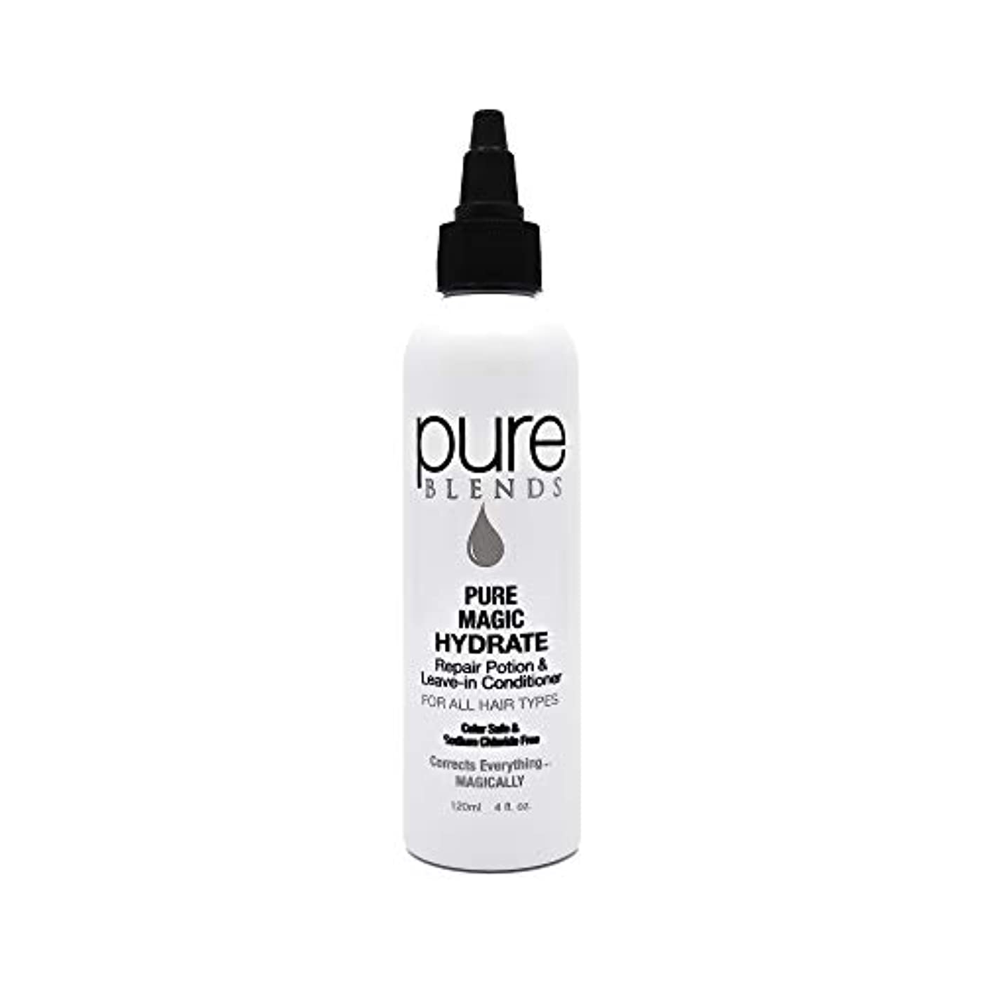 Pure Blends ピュアマジックハイド修復ポーションとリーブインコンディショナー4オンス - サロン品質 4オンス。