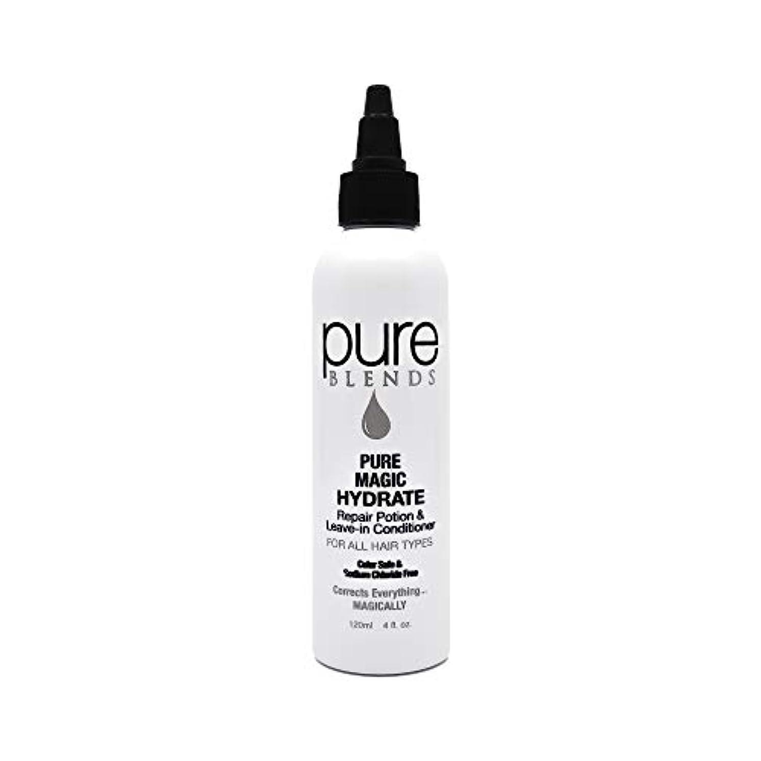 応用好奇心筋Pure Blends ピュアマジックハイド修復ポーションとリーブインコンディショナー4オンス - サロン品質 4オンス。