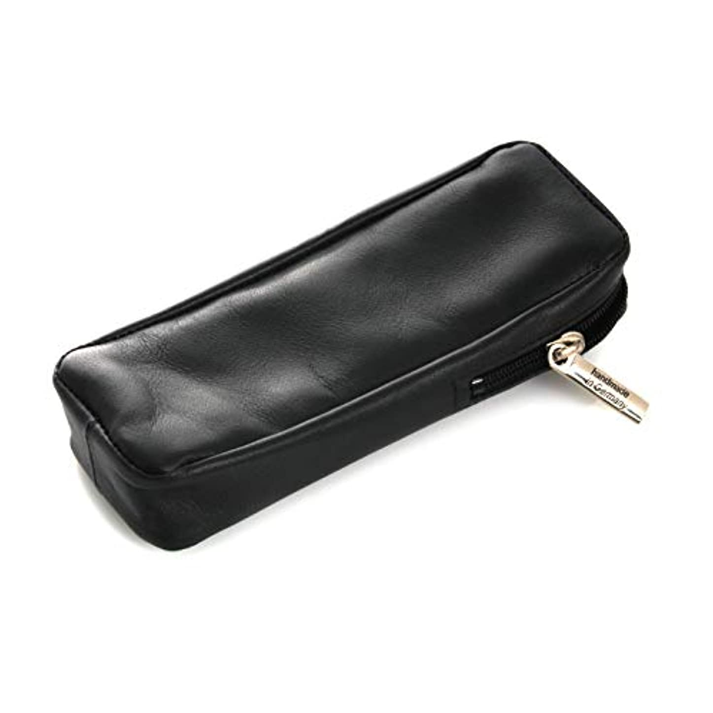 被害者先行するうるさいRazor Case 13 cm, Leather, Black, Dovo Solingen