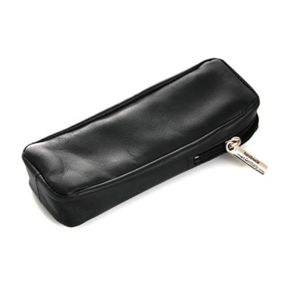 ランドマーク顔料ペストリーRazor Case 13 cm, Leather, Black, Dovo Solingen