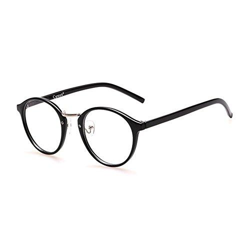 Cyxus(シクサズ) 青色光をカット uvカット復古輻射防止眼鏡 [透明?脂のレンズ ] オーバーPC パソコン用メガネ 男女兼用(円形)