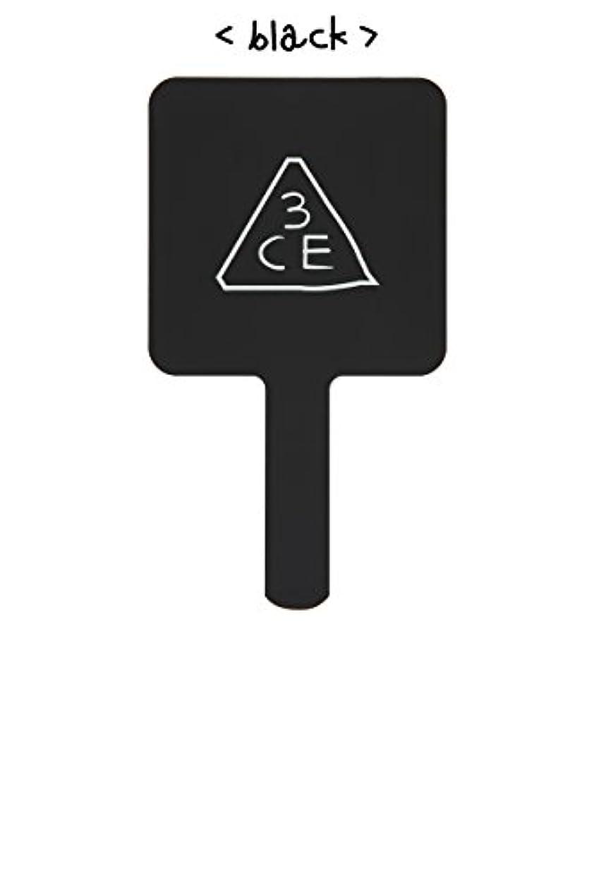 雄大な聖歌典型的な[3CE/3CONCEPT EYES] 3CE SQUARE HAND MIRROR 手鏡 ハンドミラー #BLACK