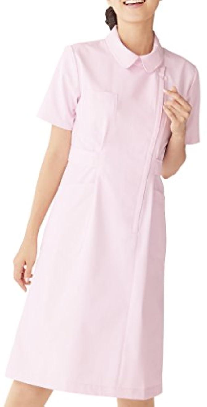 不完全ブランド毛細血管KAZEN アプロン カゼン ワンピース半袖 270-73(ピンク)3L
