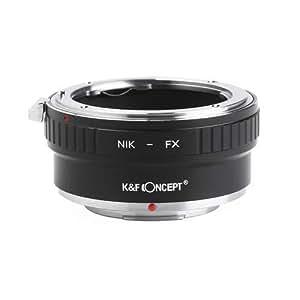 K&F Concept レンズマウントアダプター KF-NFX2 (ニコンFマウントレンズ → 富士フイルムXマウント変換)