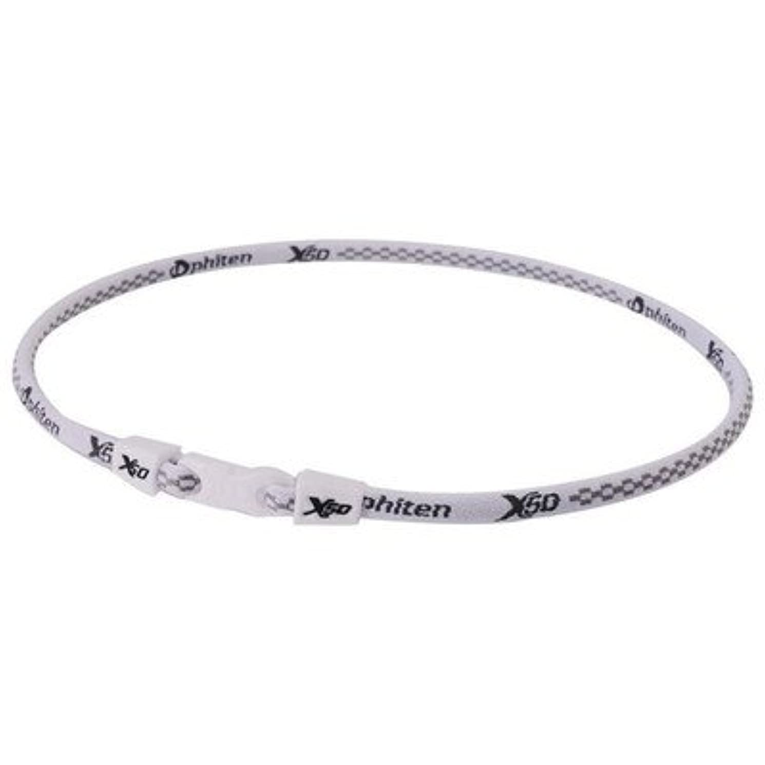 メンターマリンドローPhiten(ファイテン) RAKUWA ネック X50 チタンホワイト 55CM TF360154[通販用梱包品]