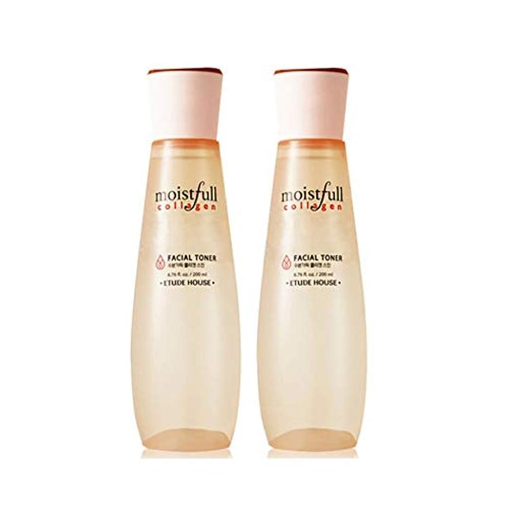 いわゆる音声学キュービックエチュードハウス水分いっぱいコラーゲンスキン200ml x 2本セット韓国コスメ、Etude House Moistfull Collagen Skin 200ml x 2ea Set Korean Cosmetics...