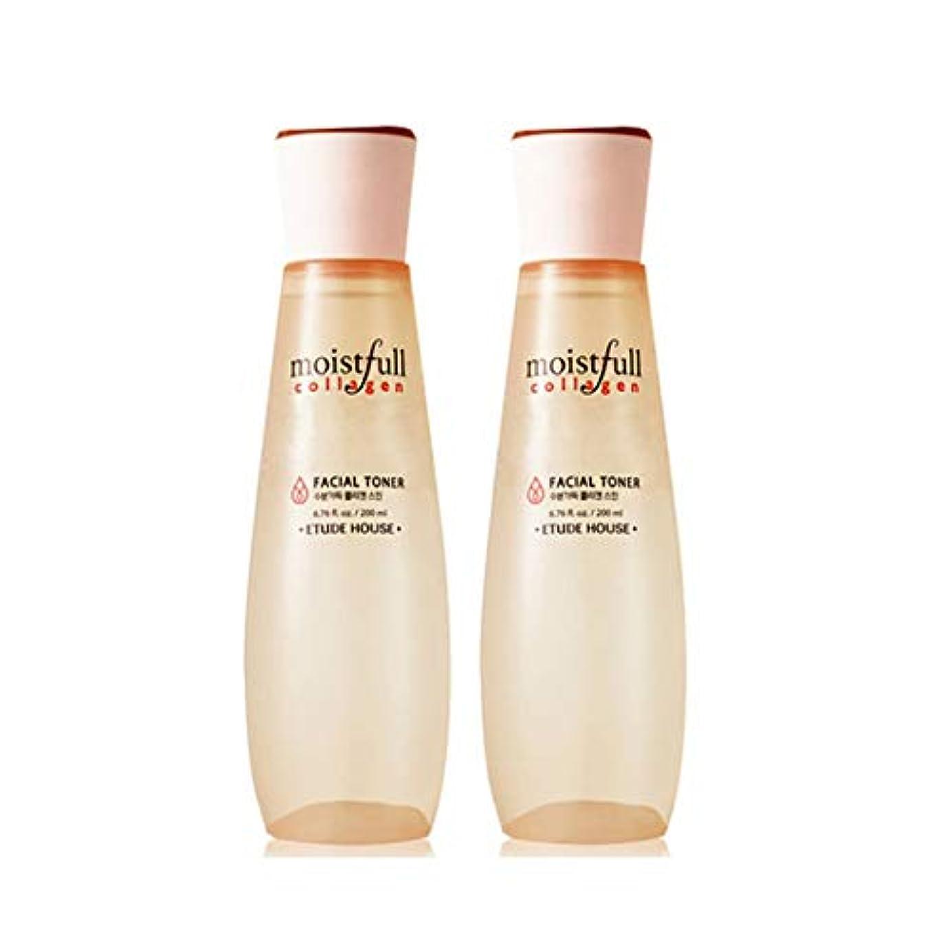 退化するキャップ粉砕するエチュードハウス水分いっぱいコラーゲンスキン200ml x 2本セット韓国コスメ、Etude House Moistfull Collagen Skin 200ml x 2ea Set Korean Cosmetics...