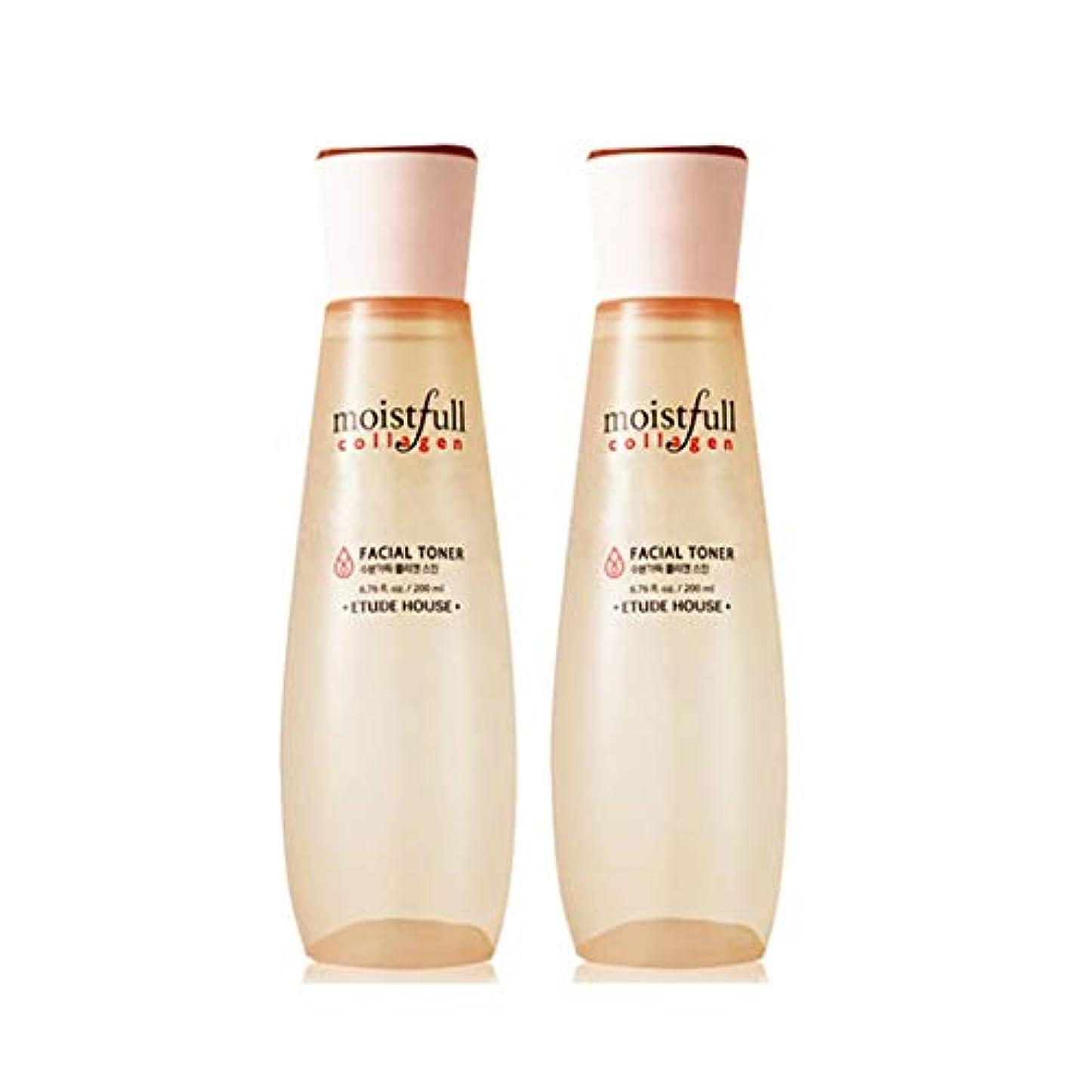 アシストディンカルビル呼吸エチュードハウス水分いっぱいコラーゲンスキン200ml x 2本セット韓国コスメ、Etude House Moistfull Collagen Skin 200ml x 2ea Set Korean Cosmetics...