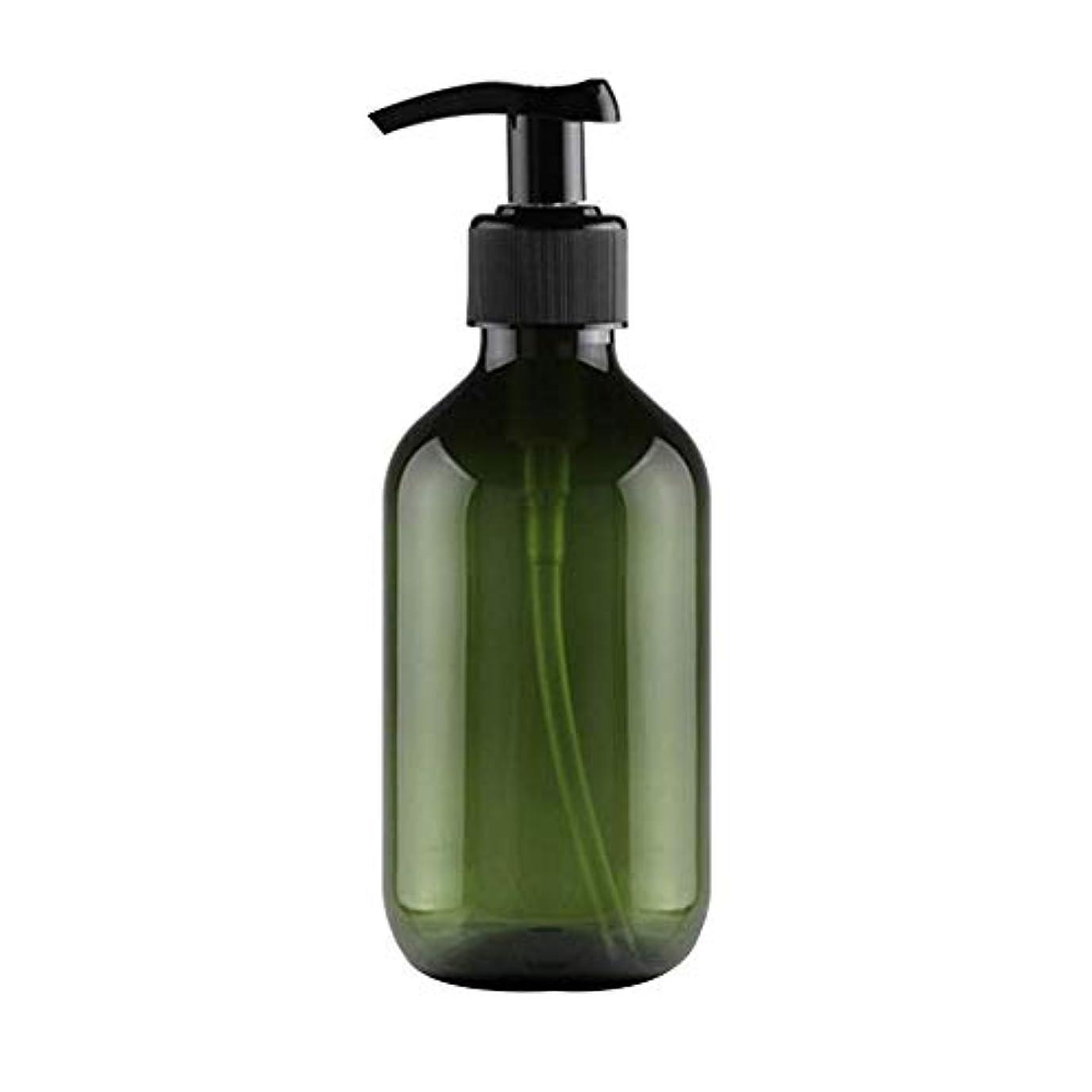 1st market 大人気 小分けボトル ポンプボトル 押し式詰替用ボトル 携帯用 旅行 出張用 シャンプー 乳液など入り トラベルボトル 300ml ダークグリーン 高品質