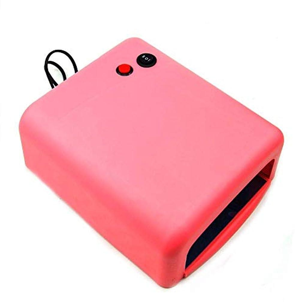 ギャザー汚染された無限ネイルドライヤーネイルドライヤー36WプロのUV LEDランプネイルドライヤーポリッシュマシン用ネイルジェルEU / USプラグ4X 9Wランプピンク色、写真の色