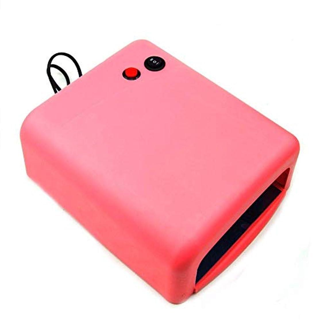 餌ピストン合金ネイルドライヤーネイルドライヤー36WプロのUV LEDランプネイルドライヤーポリッシュマシン用ネイルジェルEU / USプラグ4X 9Wランプピンク色、写真の色