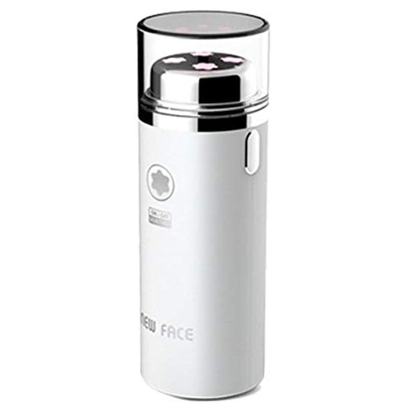 勇気バブル縞模様のエラニューフェイスガルバニックマイクロ振動イオンスキンマッサージャーEFM-2500ホワイト Elra New Face Galvanic Micro Vibration Ion Skin Massager EFM-2500...