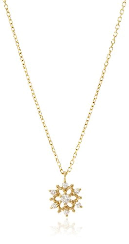 [リトルクラシックス] The Little Classics K10イエローゴールド?ダイヤモンド(0.03ct) セブンスターモチーフ デザイン ペンダントネックレス 609P0039