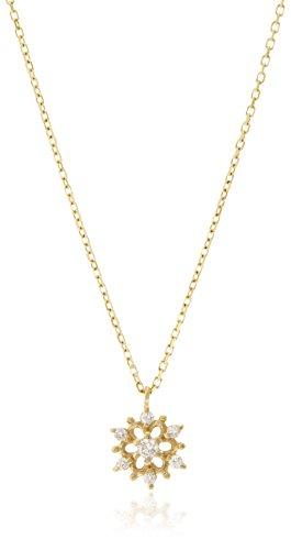 [リトルクラシックス] The Little Classics K10イエローゴールド・ダイヤモンド(0.03ct) セブンスターモチーフ デザイン ペンダントネックレス 609P0039