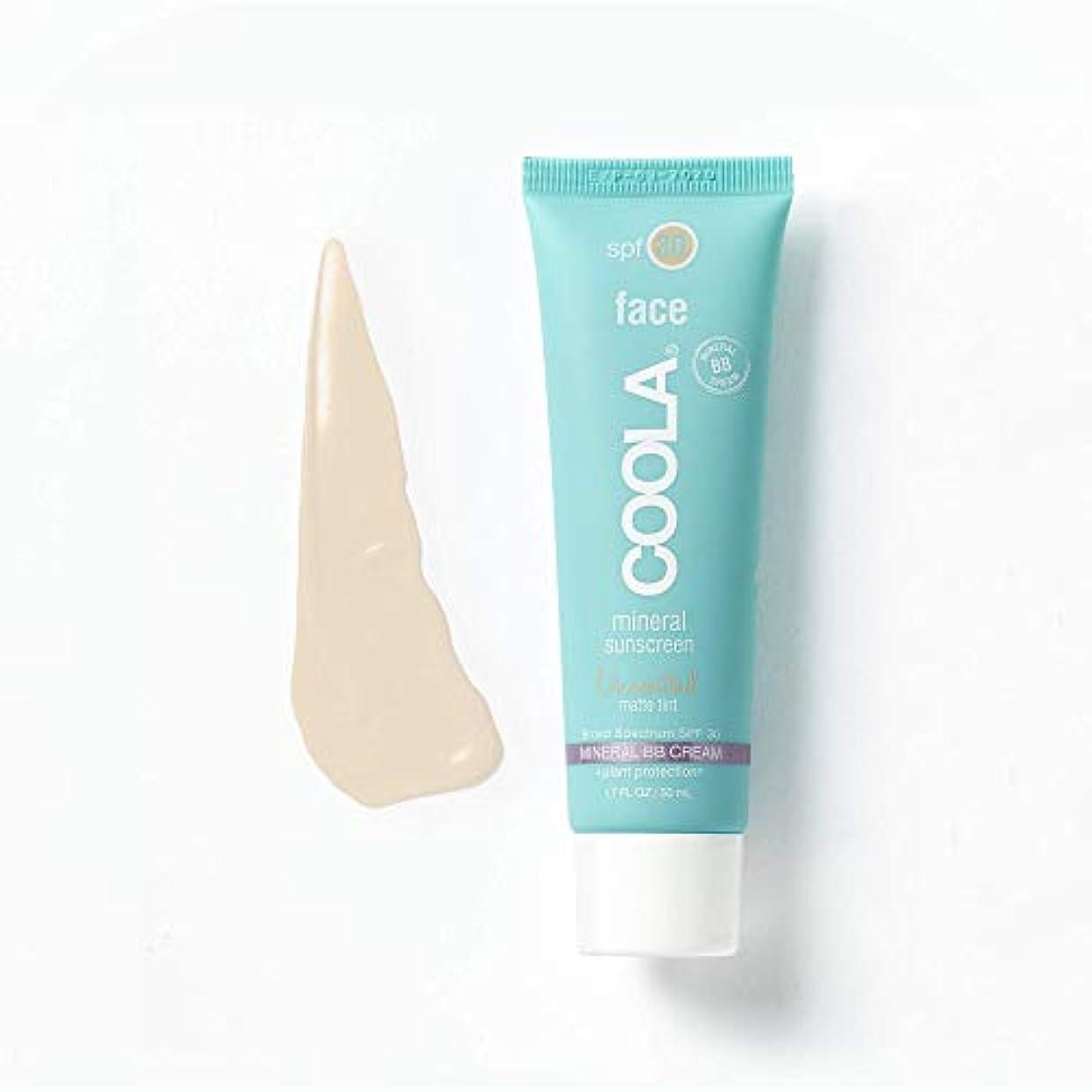 ブラジャーバース開いたCoola Face Spf 30 Mineral Sunscreen Unscented Matte Tint (並行輸入品)