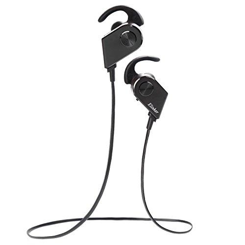 (イリンク)Elinker Bluetooth V4.1ワイヤレスイヤホン 防水 / 防汗 高音質ステレオヘッドホン CVC6.0ノイズキャンセリング搭載 マグネット マイク内蔵 ハンズフリー通話可能 スポーツイヤホン