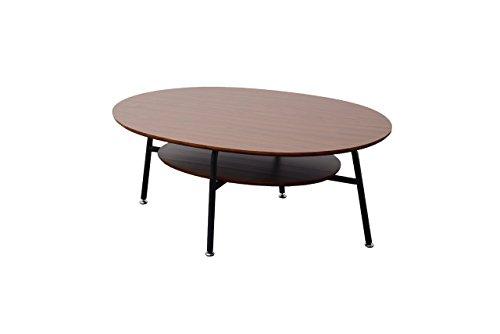 木製センターテーブル【ベリーサ】90cm (ブラウン)
