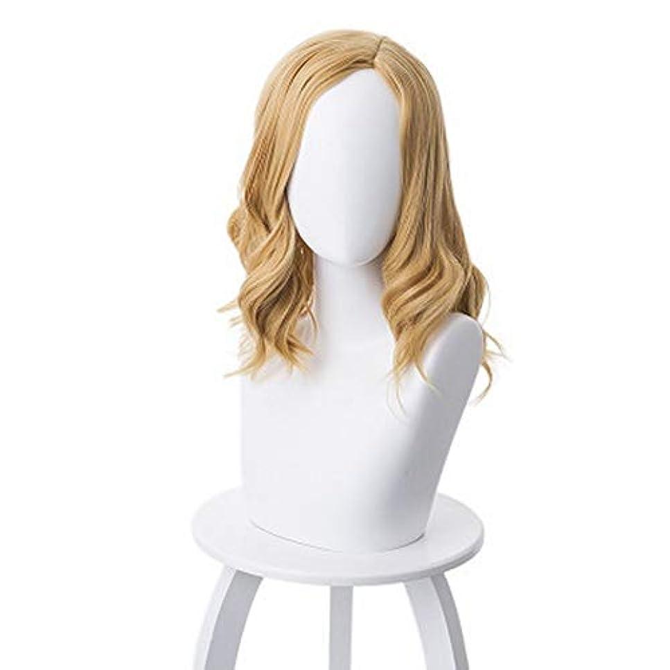 ロボット腹部恐ろしいです女性用カラーウィッグ、ポニーテールのロングカーリーコスプレウィッグ、高密度温度合成ウィッグコスプレヘアウィッグ、耐熱ファイバーヘアウィッグ、17.7インチ