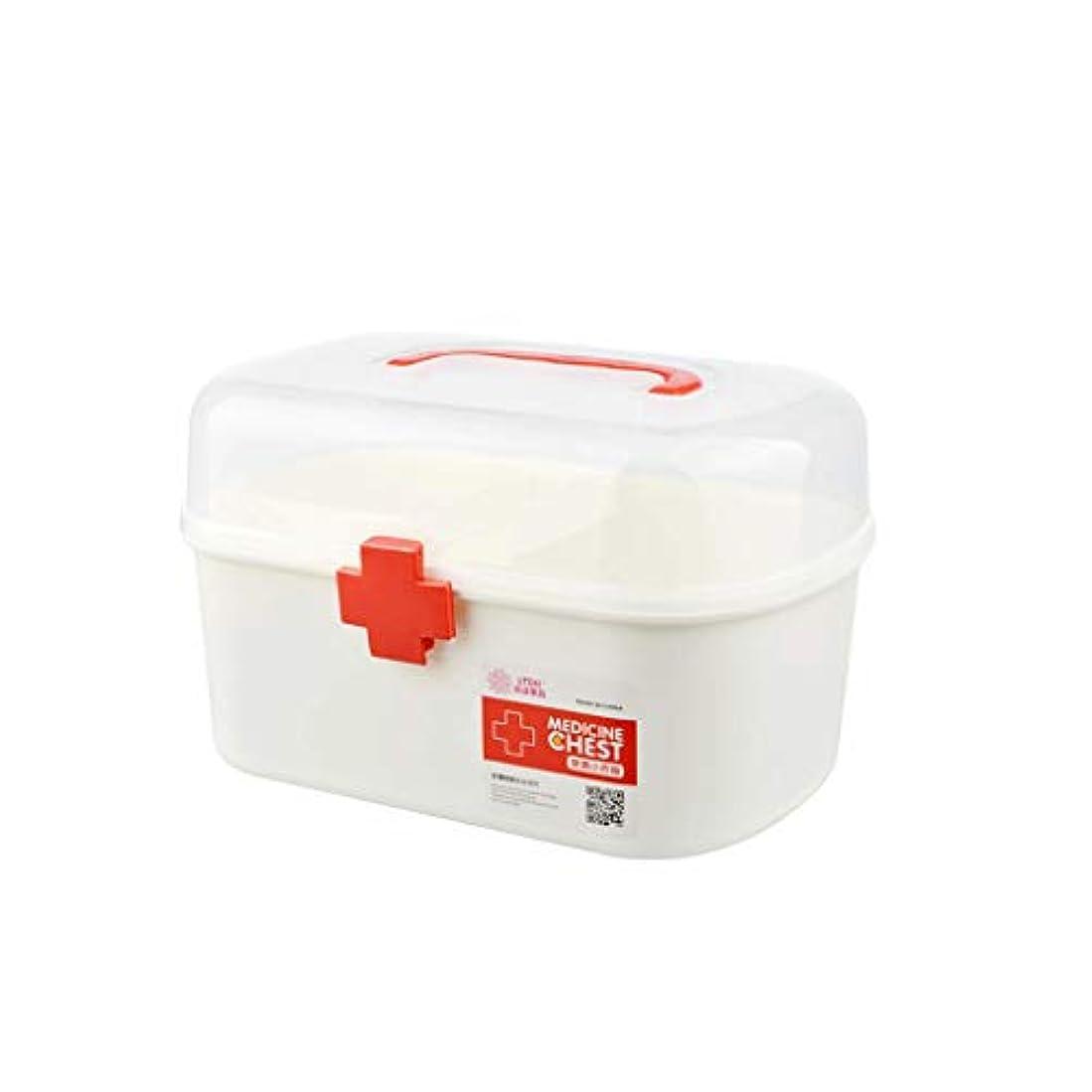 診療所日印象的IUYWL 家庭用薬箱、プラスチック製の薬箱、携帯用救急箱 (Size : 21cm×15.5cm)