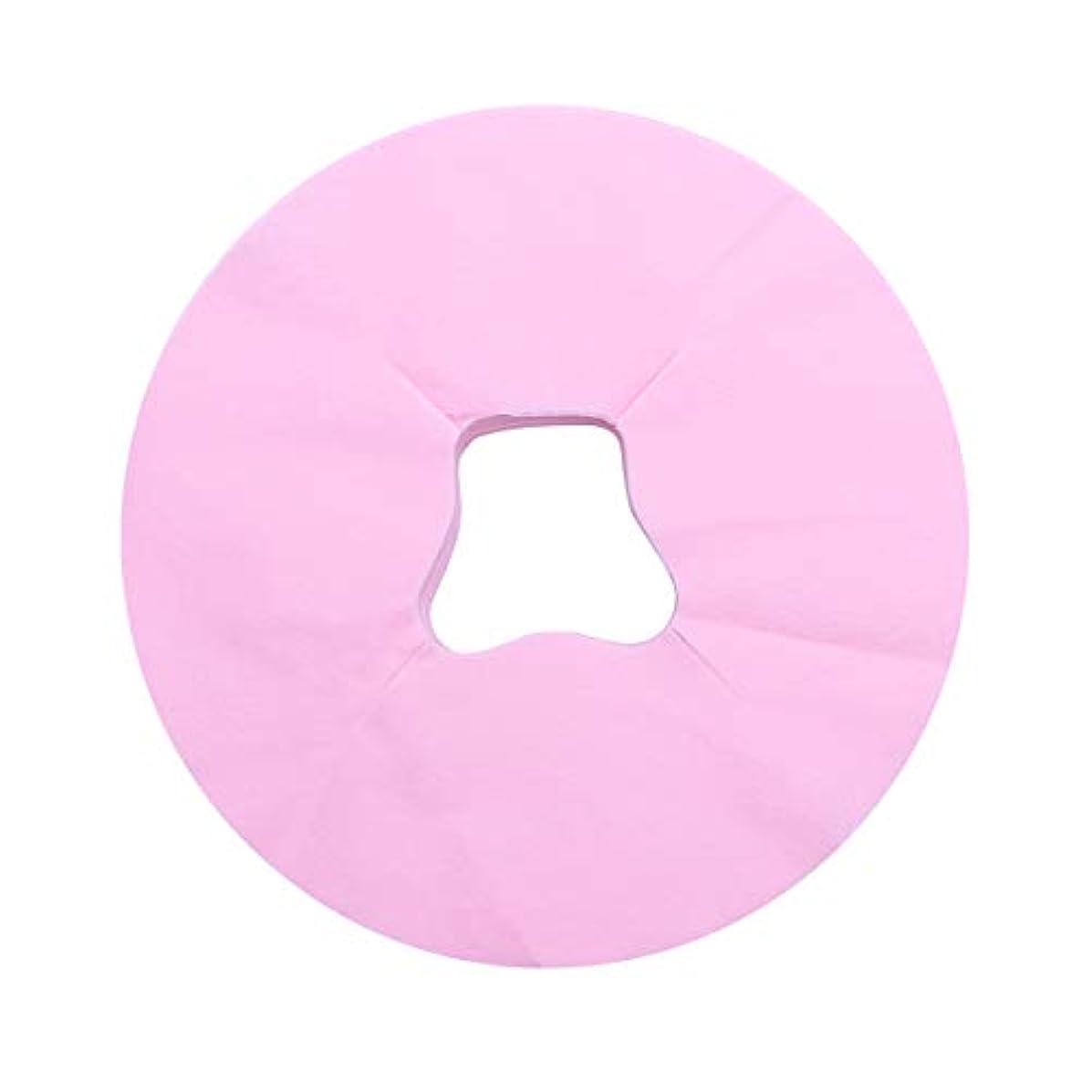 隔離する会計価格Healifty 100シートマッサージフェイスピローカバー使い捨てフェイスカバーパッドフェイスホールピローフェイシャルベッドサロンスパヘッドレストピローシート(ピンク)