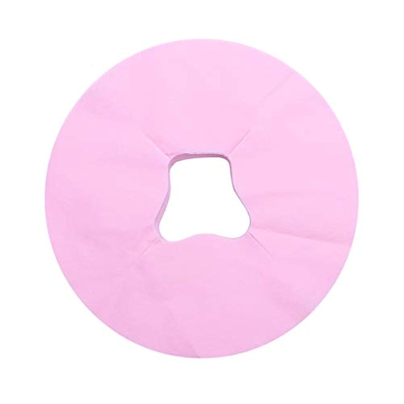 指令トロリーバス両方SUPVOX 100ピース使い捨てフェイスカバーパッドマッサージフェイスピローカバーフェイシャルベッドサロンスパヘッドレストピローシート(ピンク)