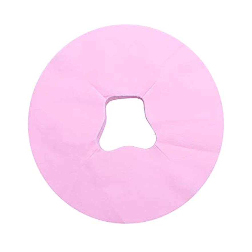雨のミキサークーポンSUPVOX 100ピース使い捨てフェイスカバーパッドマッサージフェイスピローカバーフェイシャルベッドサロンスパヘッドレストピローシート(ピンク)