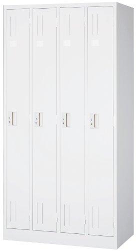 国産 ホワイトロッカー 白 4人用 スチール ロッカーML47-AW オフィスロッカー