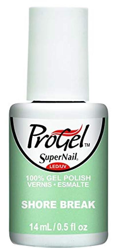 ホイットニー樹皮重なるSuperNail ProGel Gel Polish - Shore Break - 0.5oz / 14ml