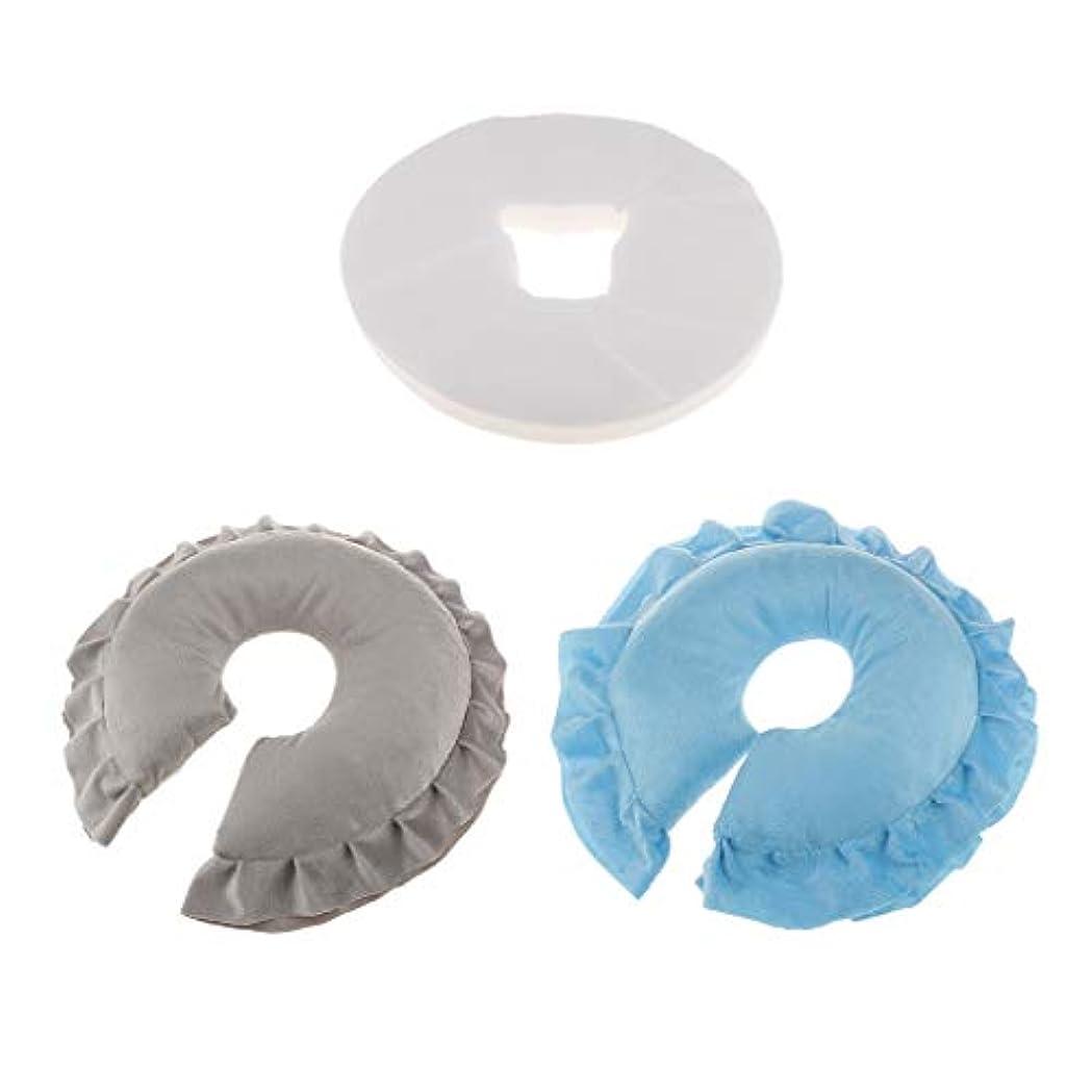 懸念手のひらスチールdailymall 2x美容院のマッサージの顔の揺りかごの枕+100の使い捨て可能なクッションカバー