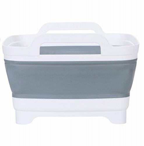 【折りたたみ コンパクト シリコン 排水機能付き 】Lot's 洗い桶 ソフト洗い桶 洗いおけ 洗いかご キッチン 水切りかご おりたたみ スリム たためる 取っ手付き おしゃれ 収納 シンク (メーカー3ヶ月保証)