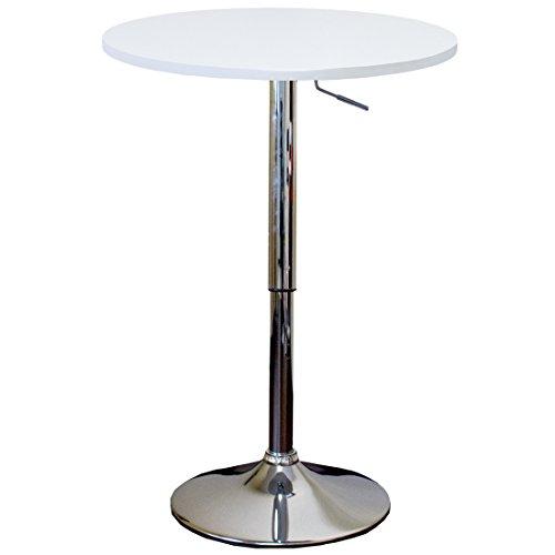 タンスのゲン 昇降式 カウンターテーブル バーテーブル カロス ホワイト 65090013 WHAM